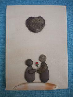 Valentines Pebble Art by Kate Dengra