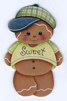 Sweet Gingerbread Boy Painting E-Pattern