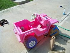 power wheels makeover for W's b-day