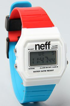 The Flava Watch in Red, White, & Blue by NEFF... my new watch! i am obsessed with #NEFF now!