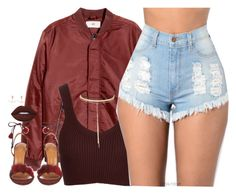 """""""12   1 16"""" by kahla-robyn ❤ liked on Polyvore featuring Lime Crime, Aquazzura, Topshop, Bee Goddess and Charlotte Russe"""