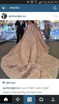 2015 Fashionable Bridal Dress For Bride Custom Made Ball Gown Elie Saab Couture With Long Train Applique Luxury Wedding Dresses Wedding Robe, Lace Wedding Dress, Pink Wedding Dresses, Wedding Gowns, Prom Dresses, Dress Prom, Elie Saab, Beautiful Gowns, Gorgeous Dress