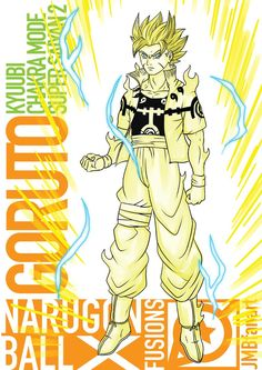 Goruto Kyuubi Chakra Mode Super Saiyan 2 by JMBfanart on DeviantArt Goku E Naruto, Anime Naruto, Kakashi, Supreme Iphone Wallpaper, Character Art, Character Design, Fusion Art, Goku Vs, Anime Crossover