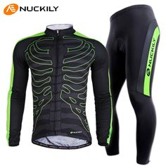 Nuckily autumn -summer bicicleta long-sleeve skinsuits man cycling clothing breathable / quick-drying / sweat absorbing