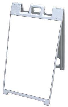 NEOPlex 26 x 32 White Poly-Plastic Sidewalk Sandwich Board A-Frame Sign Frame ONLY
