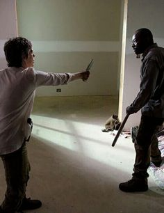 The Walking Dead Season 6 Episode 8 'Start to Finish' Carol and Morgan