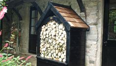 The Gothic Log Store from The Posh Shed Company