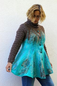 Felted jacket by Irina Lyubina