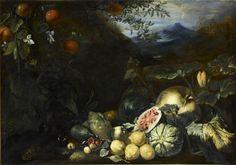 Bartolomeo Bimbi  Fruits devant un paysage Jean Baptiste, Caravaggio, Nature, Images, Drawings, Illustration, Painting, Wine Cellars, Illustrations