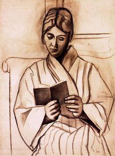Pablo Picasso. Femme lisant (Olga). 1920 year