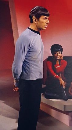 Spock and Uhura.                                                                                                                                                     More