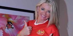 Vicky Vette Supports Indonesian Football National Team, she wears Jersey from Indonesia national team