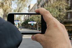 Localizador de oficinas con realidad aumentada. // Localitzador d'oficines en realitat augmentada. Descárgala en www.lacaixa.es/oficinasapp