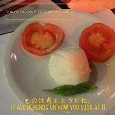 ものは考えようだね It all depends on how you look at it. . . . . . #caprese #moustache #madhuri #yoga #pilates #studio #a2care  #namasute #foods #nourish #yogalife #梅ヶ丘 #世田谷 #下北沢 #ヨガ資格 #ピラティス #smile #ヨーガ #ストレス解消 #呼吸 #瞑想 #習い事 #ダイエット #daisy #chacra #ストレッチ #美肌 #ttc #ティーチャーズトレーニング #ryt200
