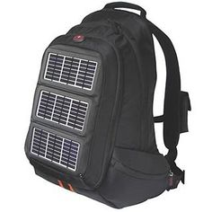 Solar Panel Backpack - Charge your electronics while you walk or bike