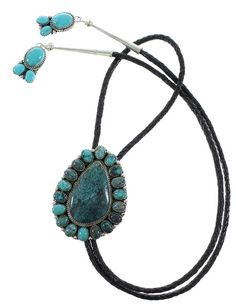 Turquoise Navajo Genuine Sterling Silver Bolo Tie www.silvertribe.com
