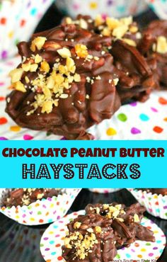 Chocolate Peanut Butter Haystacks