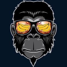 cool monkey is a Crewneck designed by jun_salazar216@yahoo.com to illustrate your life and is available at Design By Humans