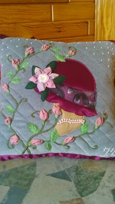 """A gift for my friend. """"A lady and roses"""" Handmade by Alina Wodzińska"""