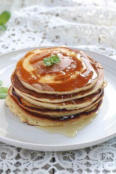 Pancakes allo Yogurt Yogurt, Pancakes, Muffin, Breakfast, Recipes, Natural, Food, Backen, Meal