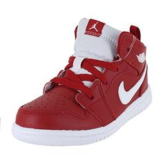 separation shoes 2d98c 1d2c1 JORDAN TODDLER JORDAN 1 MID TD GYM RED WHITE WHITE SIZE 8 -- Check this awesome  product by going to the link at the image. (This is an affiliate link)   ...