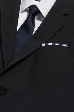 Hugo Boss Hugo Boss, All Black Looks, Sleek Look, Signature Logo, Pocket Square, Silk, Detail, Bleach, Masks