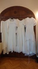Job Lot X 4 Vintage Original 60s 70s Wedding Dresses Georgette Lace 8/10  01.