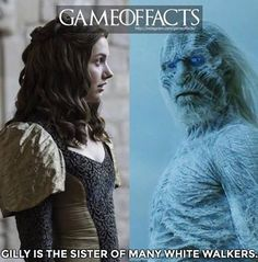 Many, if not most of the current White Walkers are actually the son and sacrifices of Craster, Gilly's father (as we saw in the White Walker baby scene in Season ~ Arte Game Of Thrones, Game Of Thrones Meme, Winter Is Here, Winter Is Coming, Narnia, Gossip Girl, Breaking Bad, Medici Masters Of Florence, Game Of Thrones Instagram