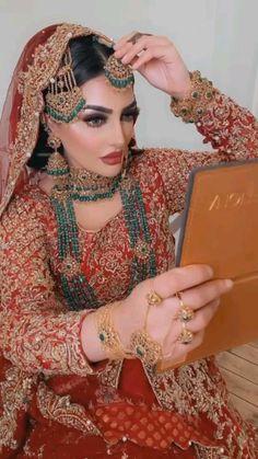 Makeup Brush Dupes, Bridal Boudoir Photography, Indian Bridal Makeup, Pakistani Bridal Wear, Cute Love Songs, Bridal Shoes, Designer Wear, Bridal Style, Bridal Dresses