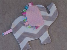 Elephant Tag Blanket READY TO SHIP by happygrowlucky on Etsy.