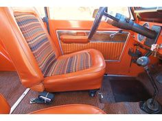 1973 Ford Bronco : original upholstery... love the stripe pattern, could do ay color scheme