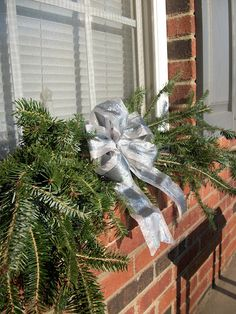 diy Christmas swags--for downstairs windows?