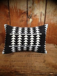 Native American Pendleton Throw Pillow, Wool Blanket Fabric, Small - $30.00