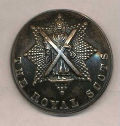 Royal Scots Silver Plate  Officers 26mm 1930's-on  Wm. Anderson & Son's  Edinburgh