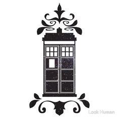 Starry Decorative Police Box Who ? (Tardis) by Look Human