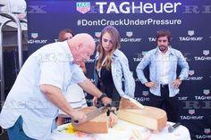TAG Heuer Monaco Grand Prix Party, Monte Carlo, Monaco - 23 May 2015 Cara Delevingne, Fernando Alonso and Jean-Claude Biver 23 May 2015