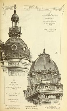 Materials and documents of architecture and sculpture : classified alphabetically Neoclassical Architecture, French Architecture, Architecture Drawings, Historical Architecture, Architecture Details, Environment Sketch, Elevation Drawing, Innovative Architecture, Sculpture
