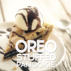 Panookie Basically a giant cookie. You're welcome.Basically a giant cookie. You're welcome. Yummy Treats, Delicious Desserts, Yummy Food, Baking Recipes, Dessert Recipes, Baking Tips, Dinner Recipes, Food Vids, Tasty Videos