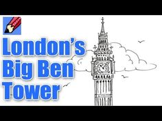 How to draw London's Big Ben Tower Real Easy - YouTube
