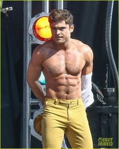 Zac Efron's Shirtless Flex-Off Stunt Photos Are Too Amazing