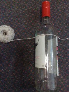 How to cut a wine bottle using string and acetone
