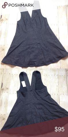 FREE PEOPLE wool blend jumper Jumper style dress. Hidden side zip. Charcoal gray. Free People Dresses Mini