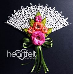 Heartfelt Creations | Botanical Rose Fan