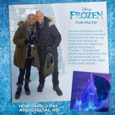 #DidYouKnow: Several members of the Frozen production team traveled to a Quebec ice hotel that served as inspiration for Elsa's ice palace.