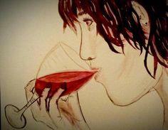Red Wine~Acrylic~ by Jaycien Bagwell 2013