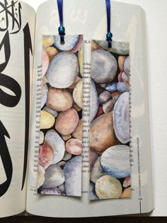 Handmade Original Watercolor bookmark set of 2stones by SuayaArt