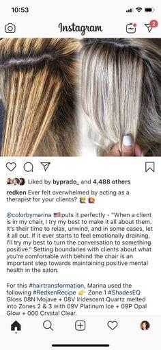 Toning Bleached Hair, Blonde Hair Transformations, Redken Hair Color, Blonde Hair Inspiration, Redken Hair Products, Hair Color Formulas, Hair Junkie, Hair Color Techniques, Hair Color Highlights
