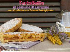 Tartellete al profumo di Lavanda con Confettura e Crema Frangipane