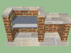 Outdoor Brick BBQ Pits