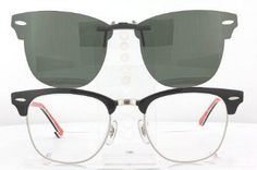 RAY-BAN CLUBMASTER CLIP-ON SUNGLASSES $58.88